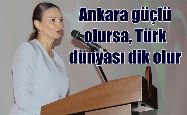 Paşayeva: Türkiye güçlü olursa, Türk devletleri güçlü olacaktır