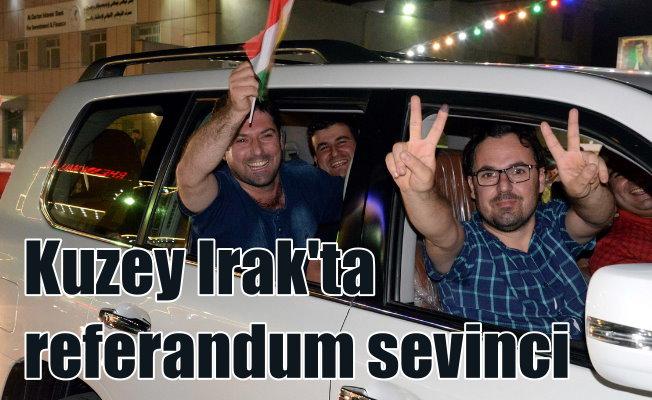 Referandum kutlamaları erken başladı: Erbil'de seviç gösterileri var