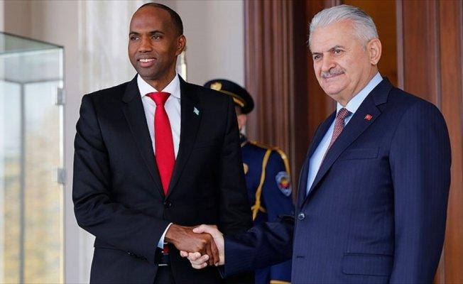 Başbakan Yıldırım, Somali Başbakanı Hayri ile görüştü