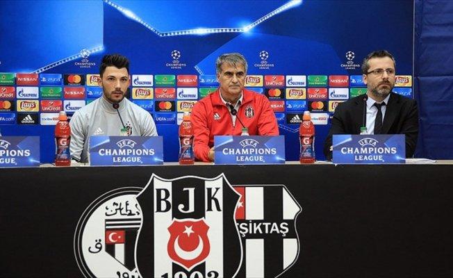 Beşiktaş Teknik Direktörü Güneş: Maçı kazanırsak gruptan çıkacağımızı biliyoruz