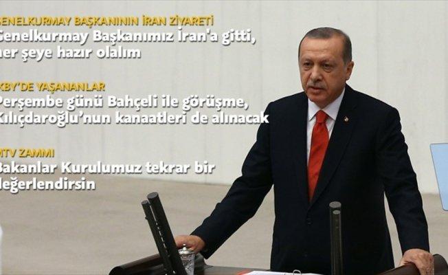 Cumhurbaşkanı Erdoğan: Genelkurmay Başkanımız İran'a gitti