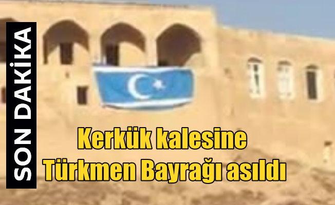 Kerkük'te Barzani'nin bayrağı indirildi