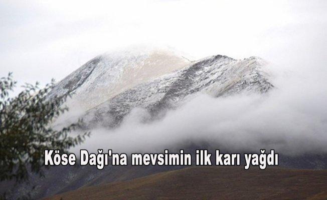 Köse Dağı'na mevsimin ilk karı yağdı