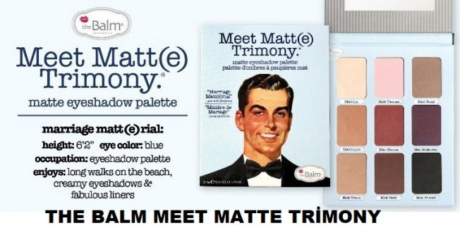 The Balm Meet Matte Trimony kapıda ödeme