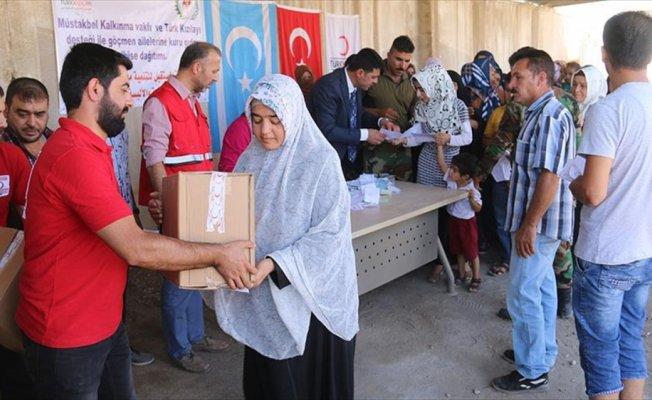 Türk Kızılayından Türkmenlere insani yardım