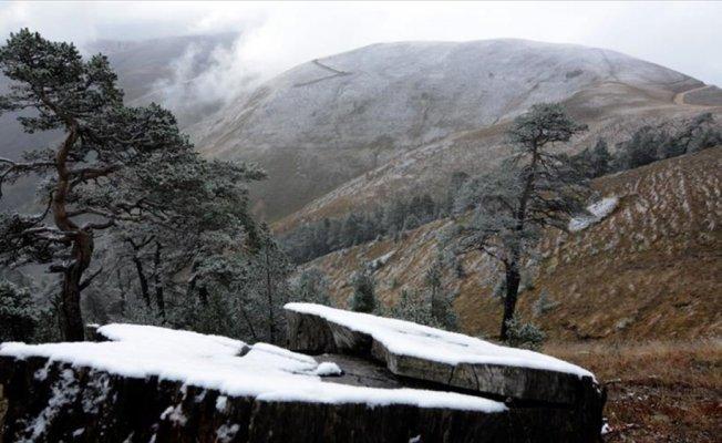 Zigana Dağı'na mevsimin ilk karı yağdı