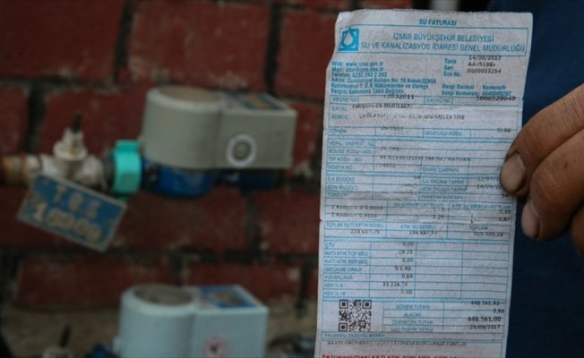54 günlük su faturası 448 bin 561 lira geldi