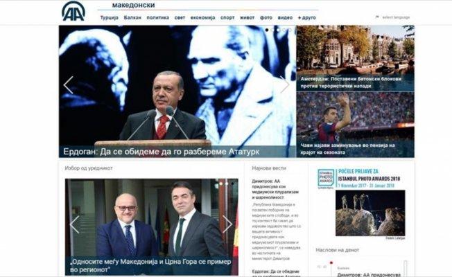 AA'nın Makedonca yayını 2 yaşında