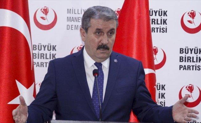 BBP Genel Başkanı Destici'den CHP'li Tezcan'ın sözlerine tepki