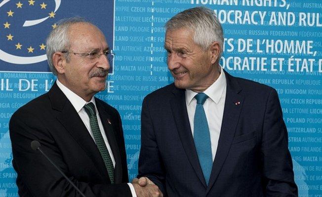 CHP Genel Başkanı Kılıçdaroğlu: Avrupa Konseyi'ni kendi evimiz olarak görüyoruz