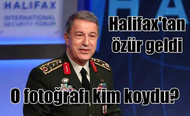 Halifax'tan Genelkurmay Başkanı Akar'a fotoğraf özrü