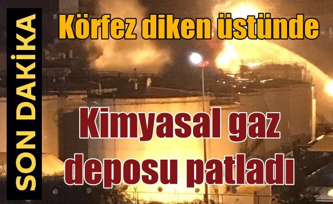 Kimyasal madde dolu tank patladı: Faciadan dönüldü