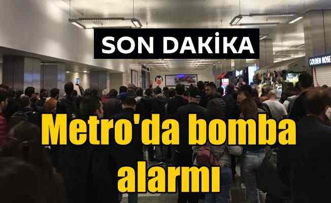 Metro'da bomba alarmı: Seferler durduruldu