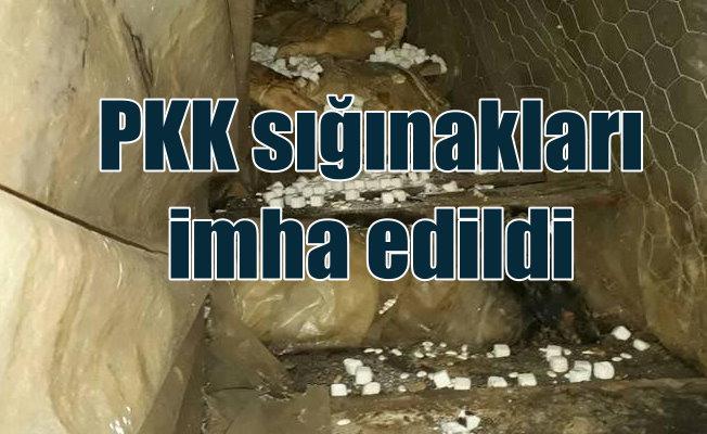 PKK'lı teröristler Lice kırsalını cephaneliğe çevirmiş