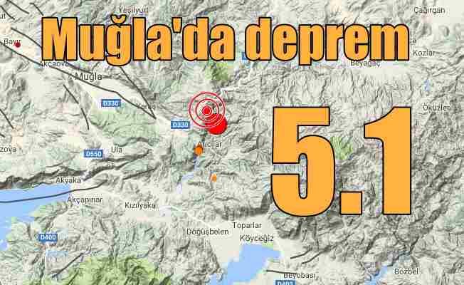 Son Depremler, Muğla Ula'da deprem; Ula 5.1 ile sallandı
