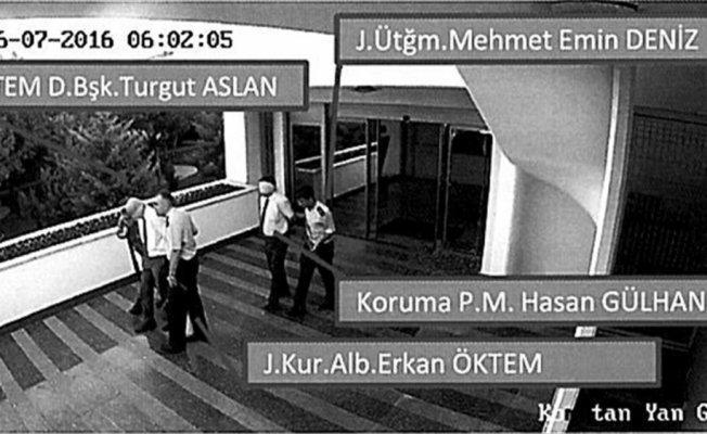 TEM Daire Başkanı Aslan'ın alıkonulduğu anlara ait fotoğraflar dava dosyasında