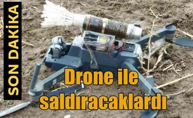 Teröristler bombalı saldırı için drone hazırlamış