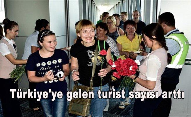 Türkiye'ye gelen turist sayısı arttı