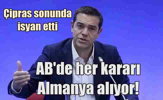 Yunanistan Başbakanı Çipras'tan AB'ye Almanya eleştirisi