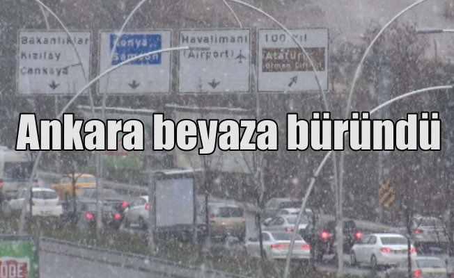 Ankara'da kar yağışı devam ediyor: Başkent beyaza büründü