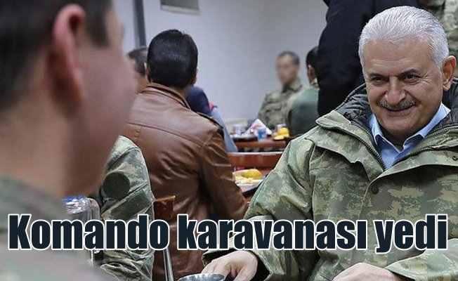 Başbakan Yıldırım Komandolarla karvana yedi