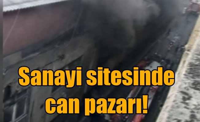 Bayrampaşa sanayi sitesinde korkutan yangın