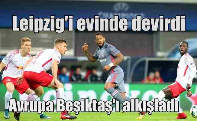 Beşiktaş namağlup lider: RB Leipzig 1 -  Beşiktaş 2