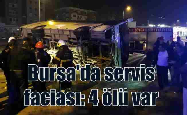 Bursa'da feci kaza, 4 ölü 10 yaralı var
