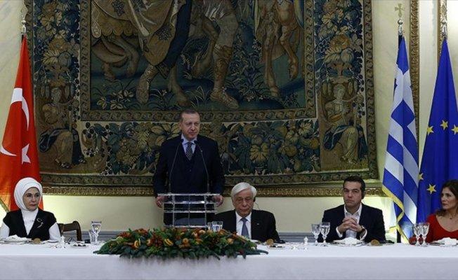 Cumhurbaşkanı Erdoğan: Türk ve Yunan yatırımcılar el ele vermeli