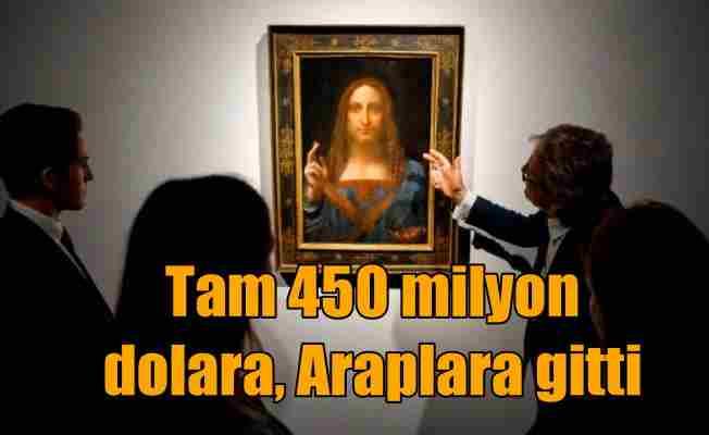 Dav Vinci'nin Salvator Mundi tablosu 450 milyon dolara Araplara gitti