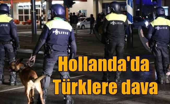 Hollanda'da, Türkiye'ye destek veren Türklere dava