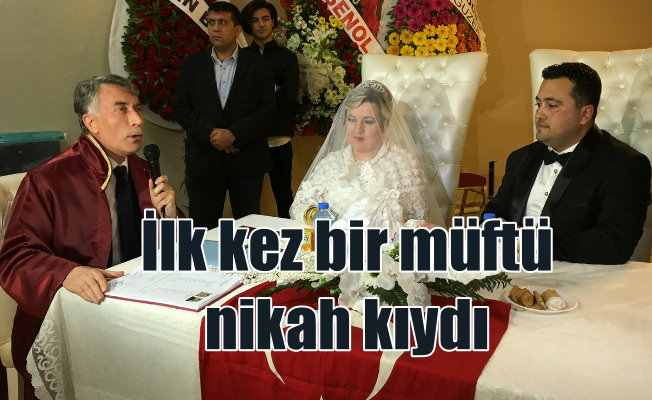 İlk müftü nikahı İzmir'de kıyıldı