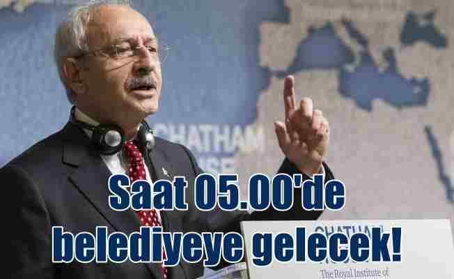 Kılıçdaroğlu, sabah saat 05.00'de Ataşehir'e geliyor