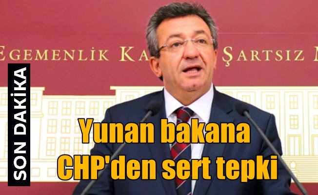 Yunan bakana haddini CHP'li Engin Altay bildirdi