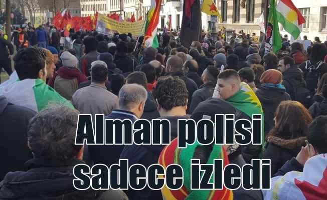 Alman polisi PKK yandaşlarına göz yumdu