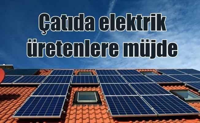 Çatıda elektrik üretenlerin faturasında indirim var