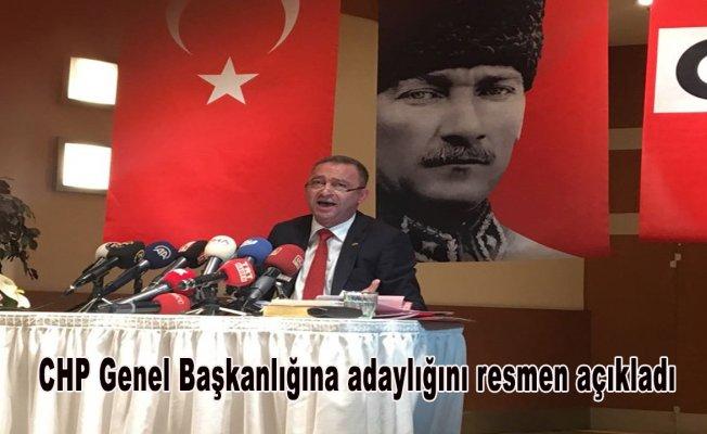 CHP Genel Başkanlığına adaylığını resmen açıkladı