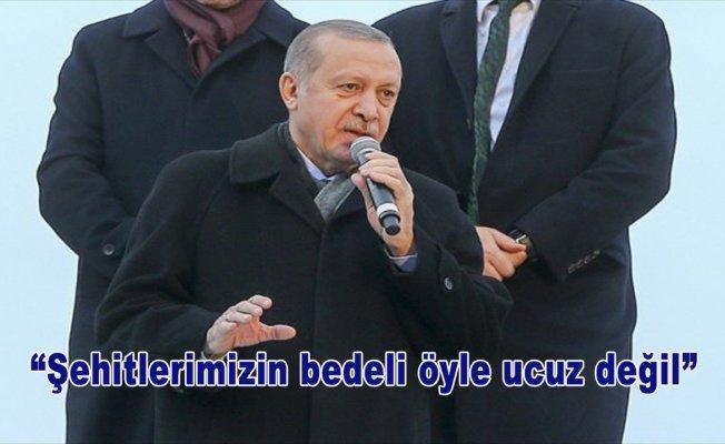 Cumhurbaşkanı Erdoğan: Şehitlerimizin bedeli öyle ucuz değil