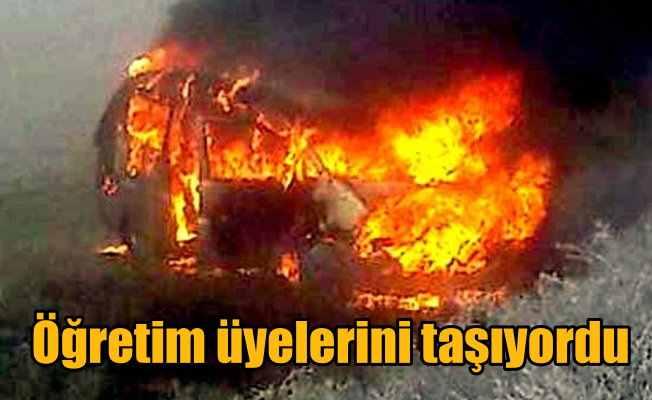 Eskişehir'de kaza: Öğretim üyeleri yanmaktan son anda kurtuldu