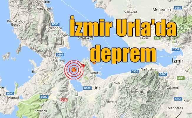 İzmir'de deprem: Urla 3.8 büyüklüğünde depremle sarsıldı