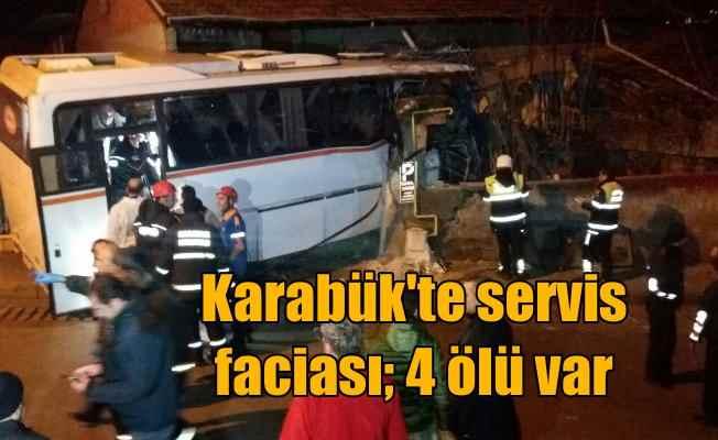 Karabük'te facia; İşçi servisi eve çarptı, 4 ölü var