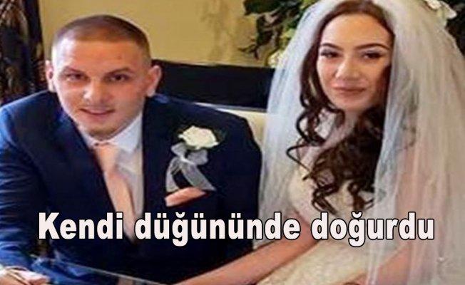 Kendi düğününde doğurdu