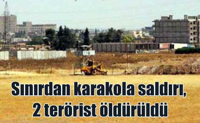 Kızıltepe'de Sınır karakoluna saldıran 2 terörist öldürüldü