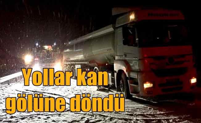 Konya ve Çorum'da zincirleme kaza; 1 ölü 25 yaralı var