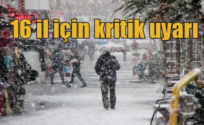 Meteoroloji 16 ili birden uyardı: Kara kış ve yağmur geliyor