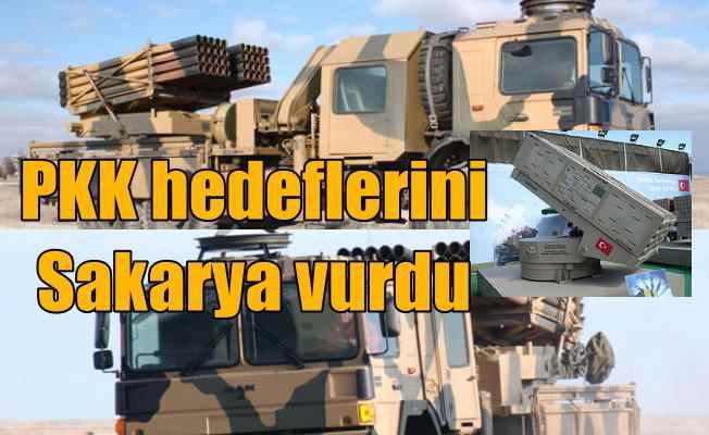 PKK hedefleri milli silahlarla karadan vuruldu