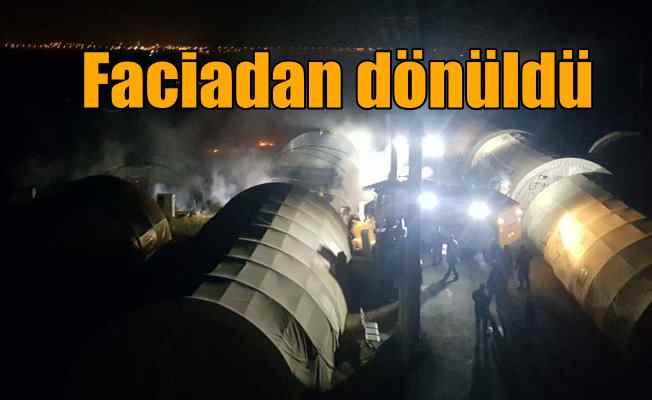 Polis ve askerlerin kaldığı çadır kentte korkutan yangın