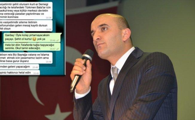 Şehit Özalkan'ın vasiyeti için Telafer'de arsa tahsis edildi