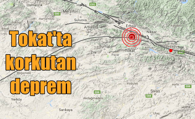 Son Dakika Tokat, Tokat'ta deprem oldu, 4.1