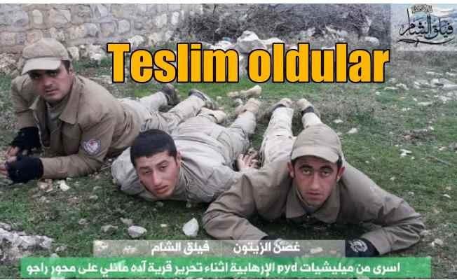 Teslim olan PKK'lıların görüntüsü sosyal medyaya düştü